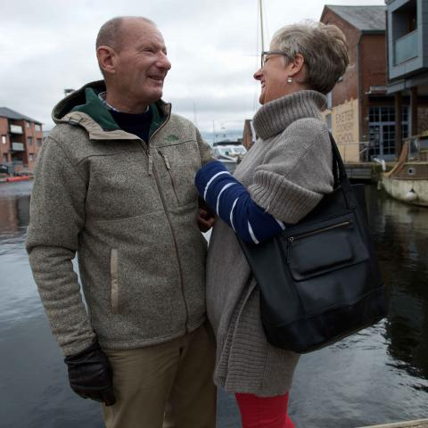 Man with scleroderma with wife Alison
