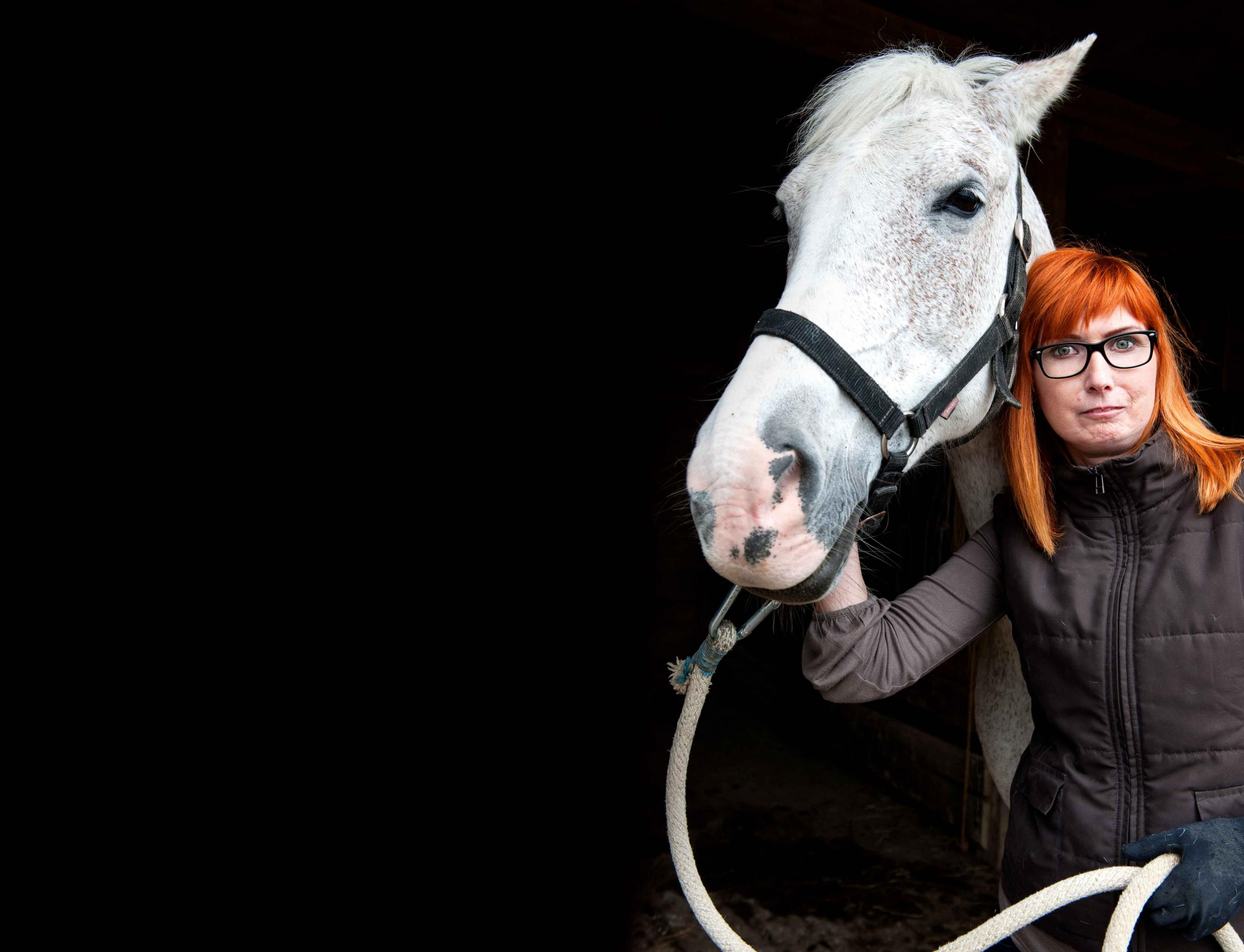 Anna with her horse