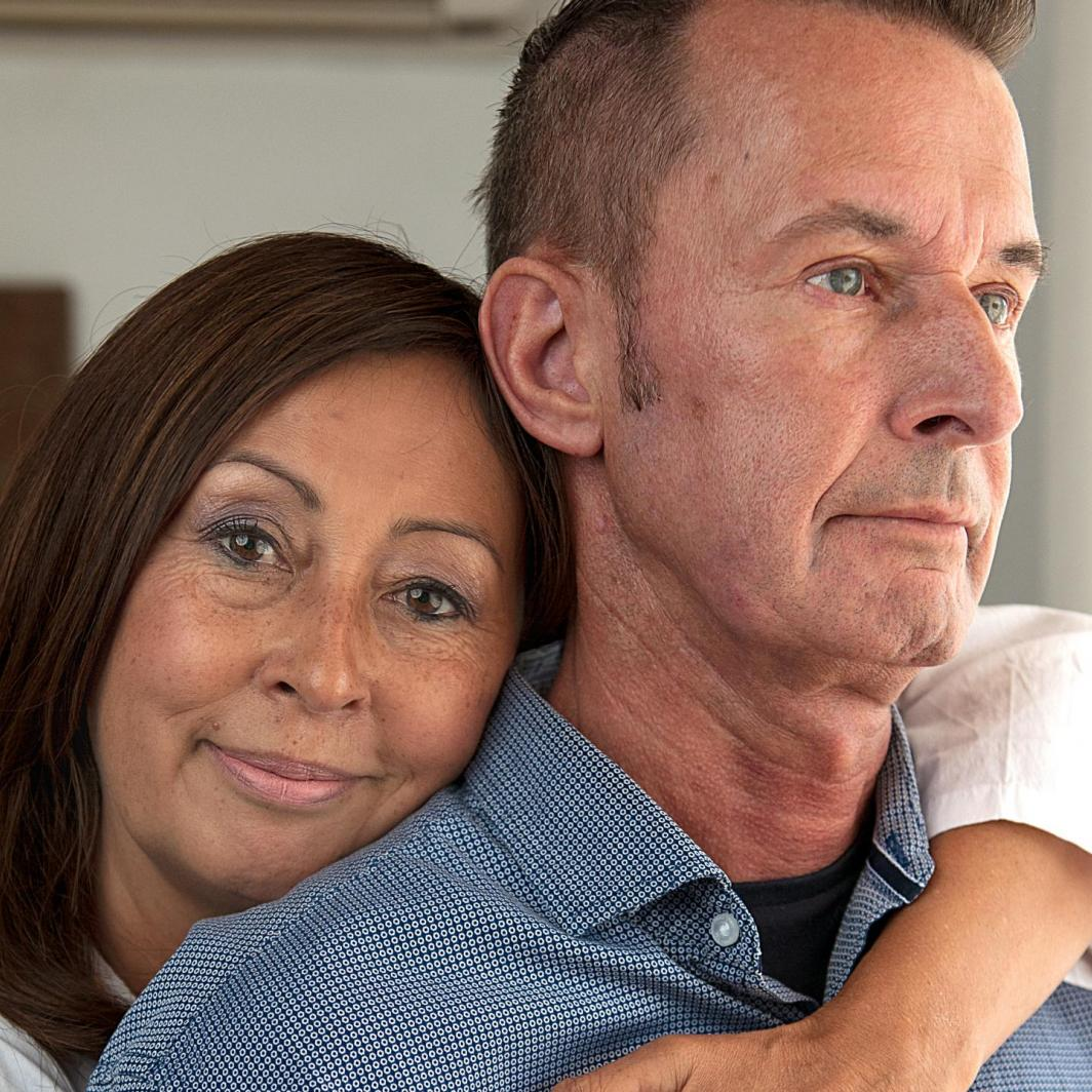 Man with scleroderma and his wife